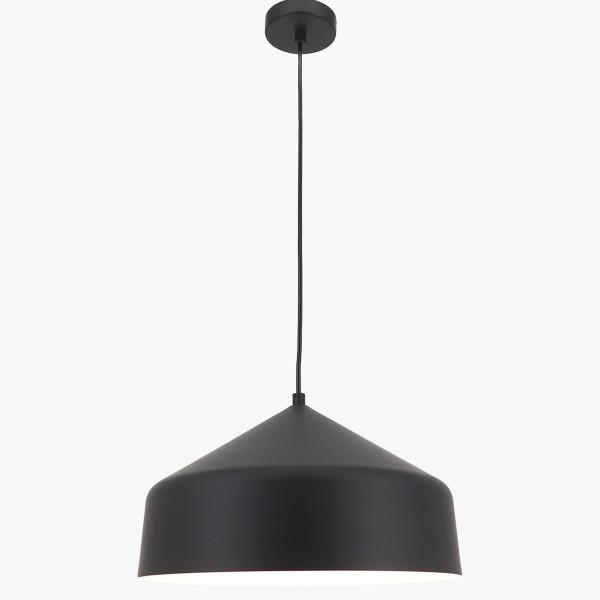 Schwarz weiße Pendelleuchte Elegan dimmbar D35 cm