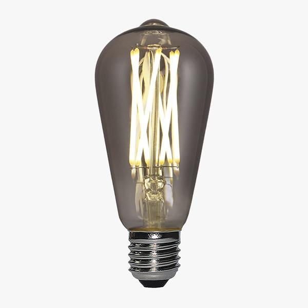 LED Lampe Filament D64 E27 Rauch