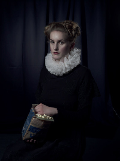 Foto mit einer Frau aus der Renaissance