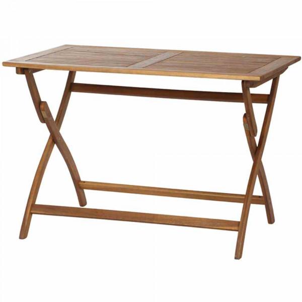 Gartentisch Akazienholz 110x70x74 cm klappbar