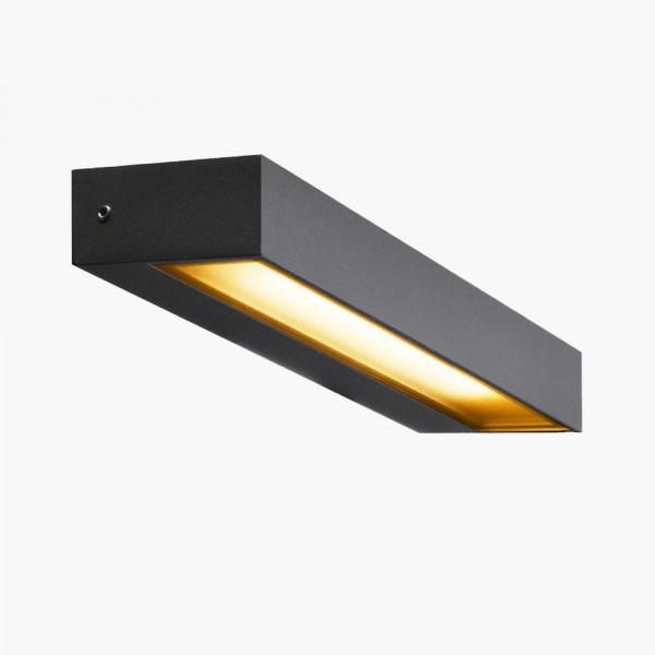 LED Wandleuchte Anthrazit IP54