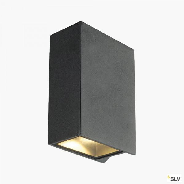 LED Wandleuchte schwarz für Innen & Außen