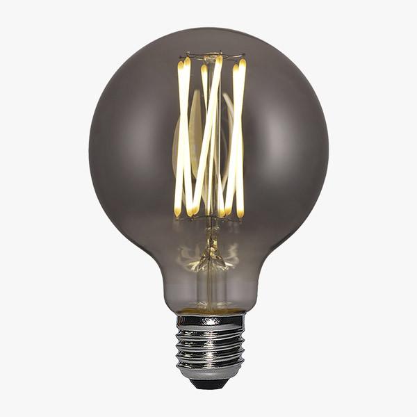 LED Lampe Filament D125 E27 Rauch