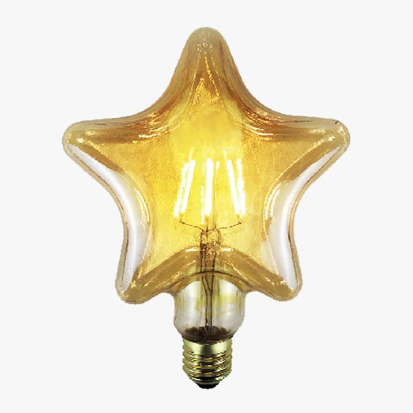 LEDLampe Filament Stern Amber