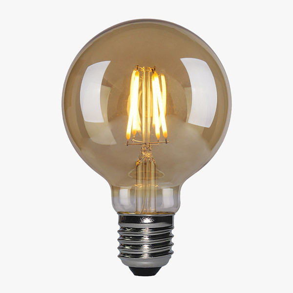 LED Lampe Filament D80 E27 Amber