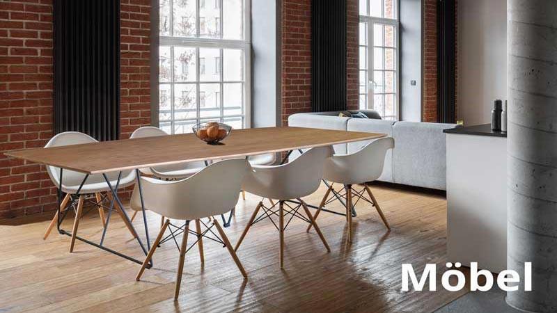 Stühle und Tische fürs Haus