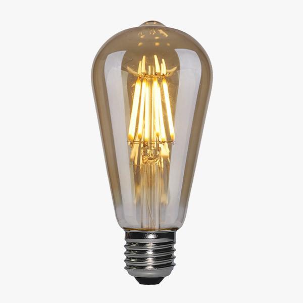 LED Lampe Filament D64 E27 Amber