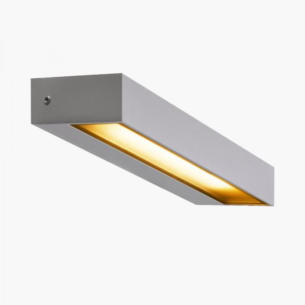 LED Wandleuchte Grau IP54