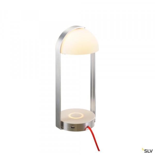 LED Tischleuchte mit Ladefläche