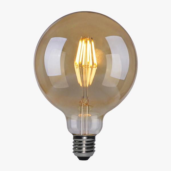LED Lampe Filament D125 E27 Amber