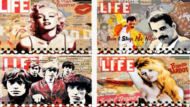 Collagen mit Pop Art Bildern
