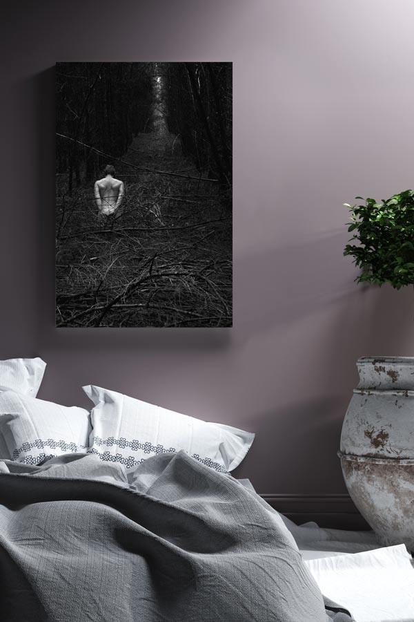 Zeigt Fotokunst im Schlafzimmer