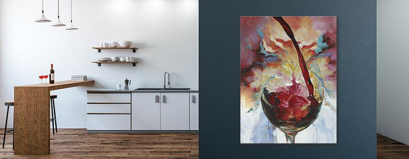 Foto zeigt ein buntes Bild in der Küche